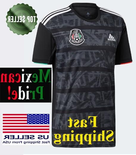 mexico home black soccer jersey 2019 gold