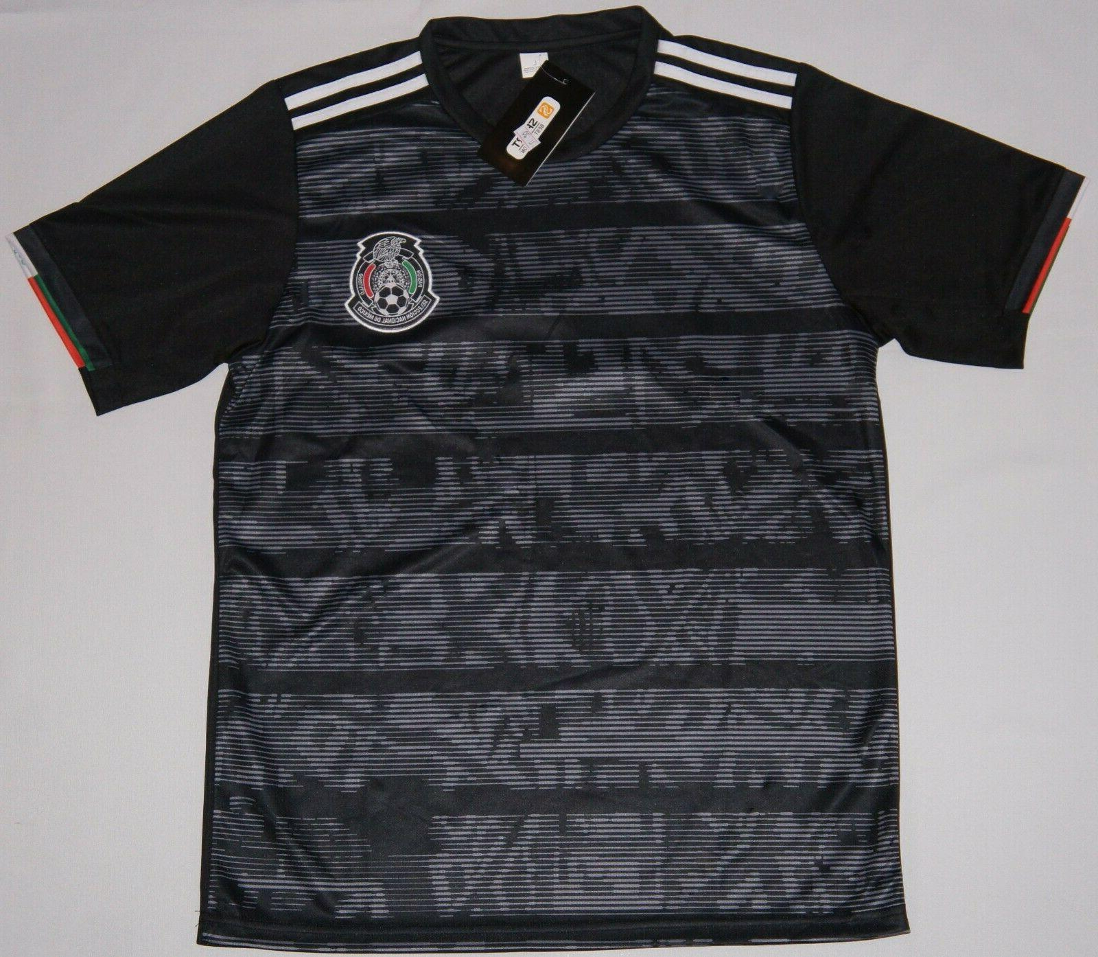 mexico men soccer jersey black copa oro