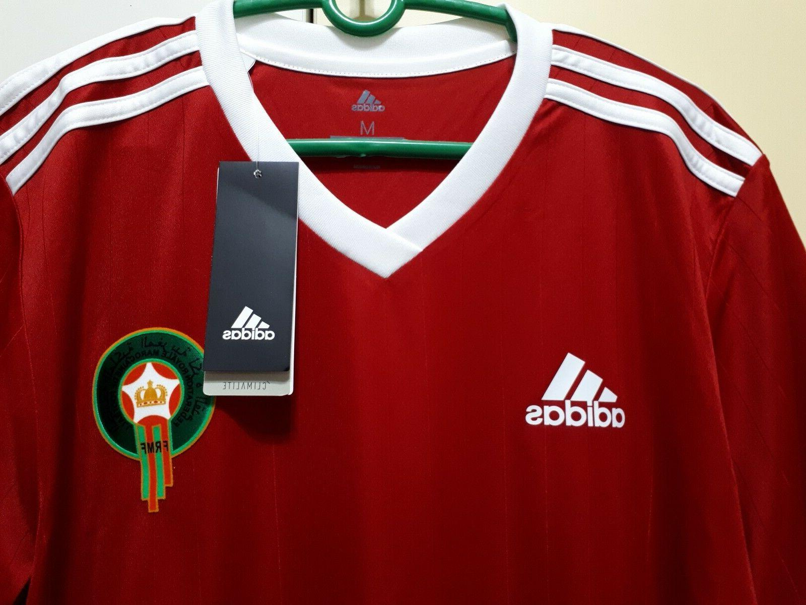 Morocco Football Soccer Home Jersey World Cup BNWT,