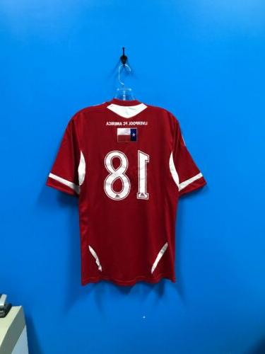 NEW Adult 100% Polyester Liverpool Soccer Jersey Color Red M