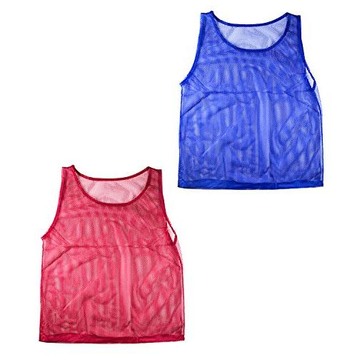 Nylon Mesh Practice Jerseys for Children Youth Sports Basketball, Football,