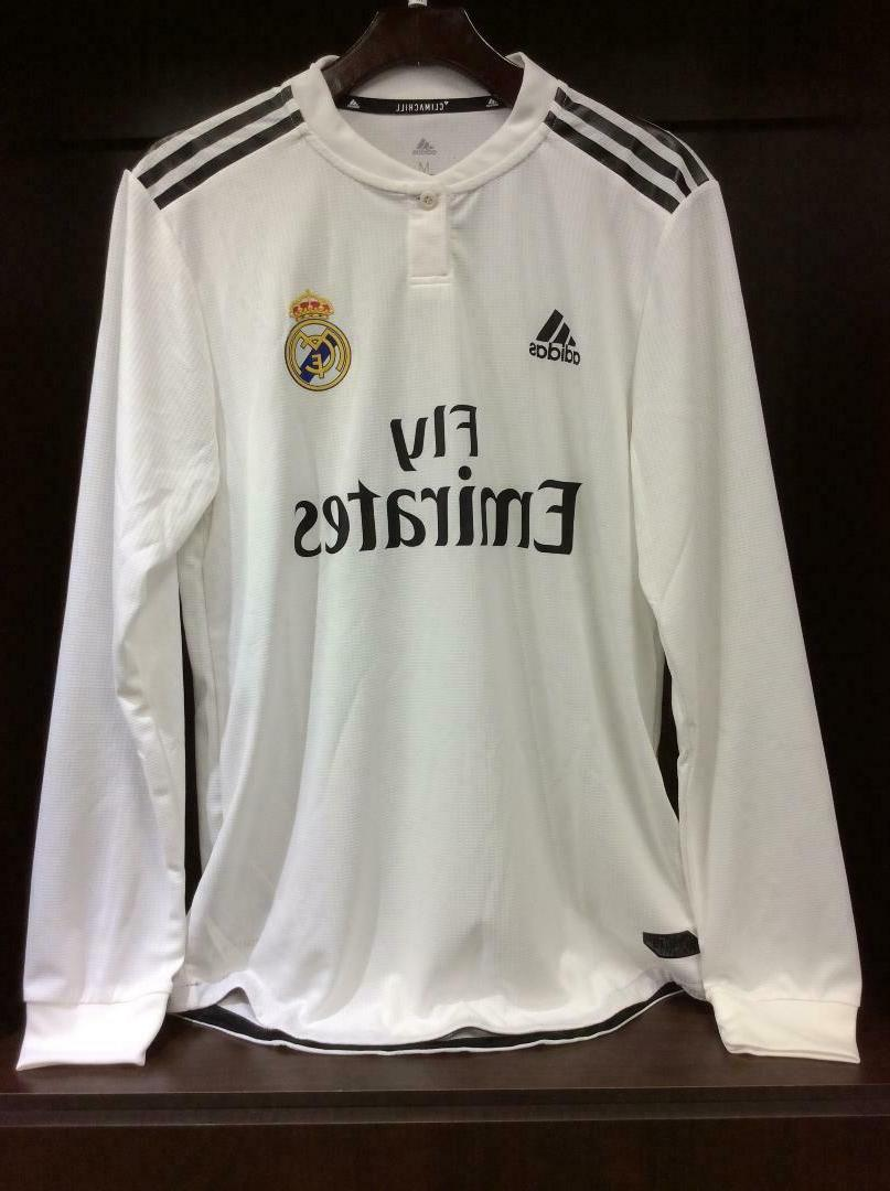 real madrid authentic home soccer jersey long