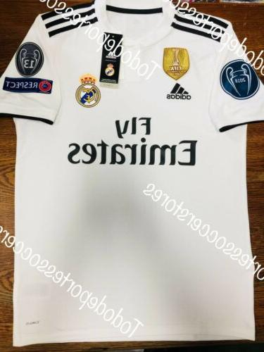 Adidas Real Madrid Home Soccer Jersey 2018-2019 Champions Pa