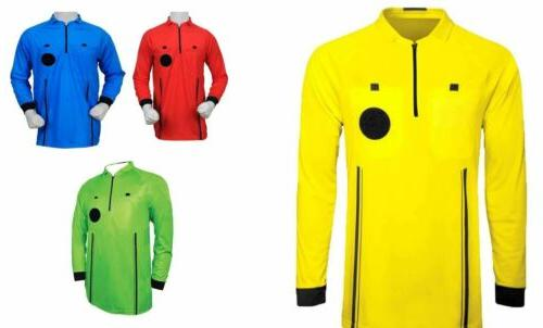 referee soccer jersey long sleeves