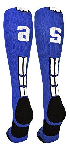 MadSportsStuff Royal/White Player Id Over The Calf Number So