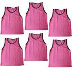 SET of 6 SCRIMMAGE VESTS PINNIES SOCCER YOUTH PINK~ NEW!