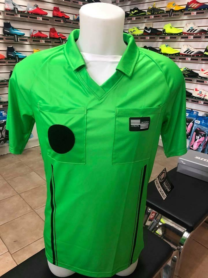 Soccer Referee official Sports shirt green yellow