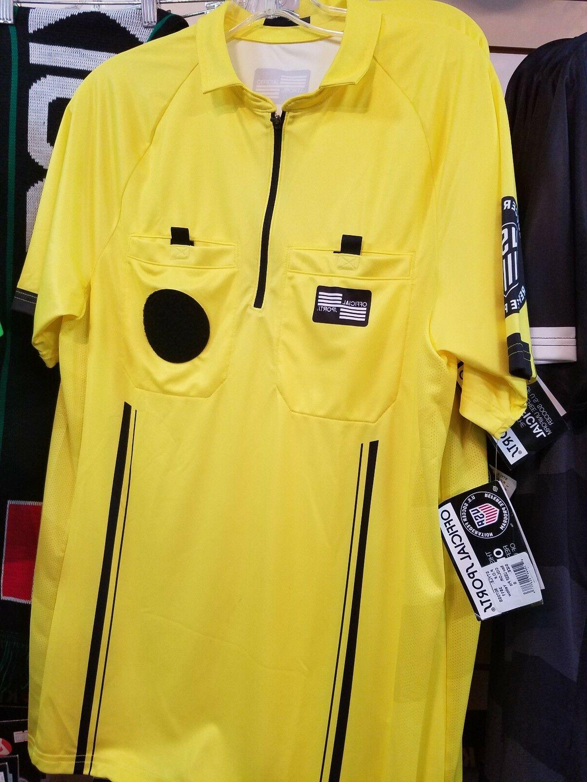 Soccer official Sports shirt green yellow