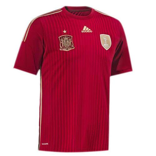 spain international mens home football soccer shirt