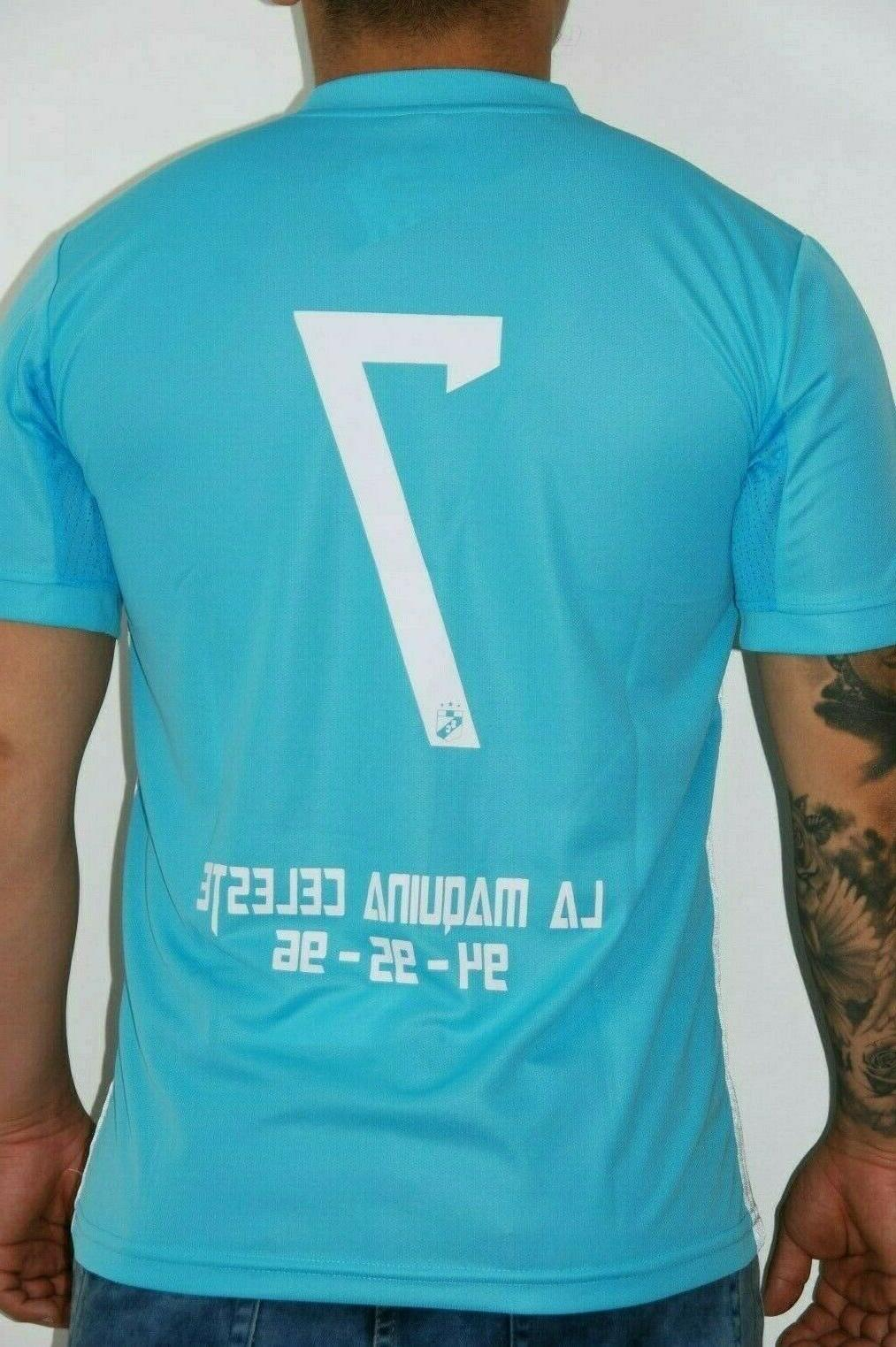 Sporting Soccer Jersey Blue 7 10 M Name