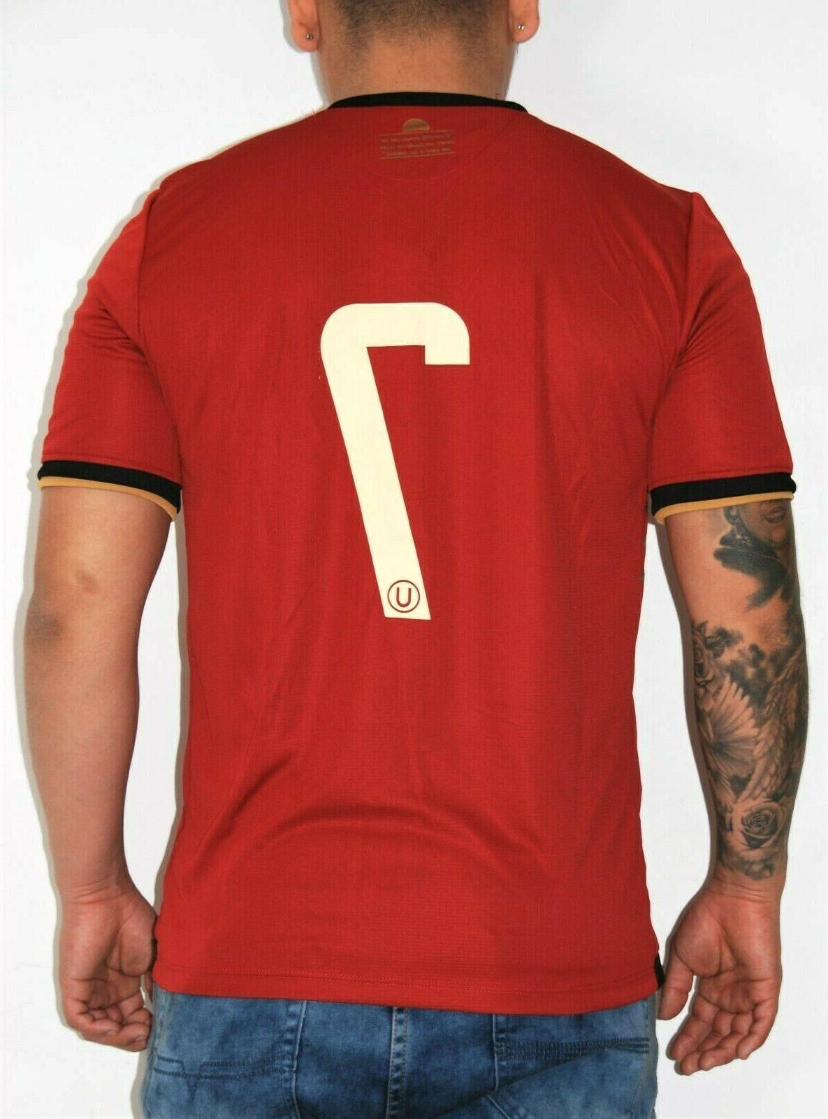 Universitario Peru Soccer Futbol Jersey Red 9 New L Name