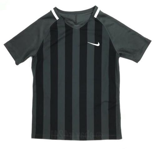 NIKE US SS STRIPED DIVISION II SOCCER JERSEY Med Anthracite/