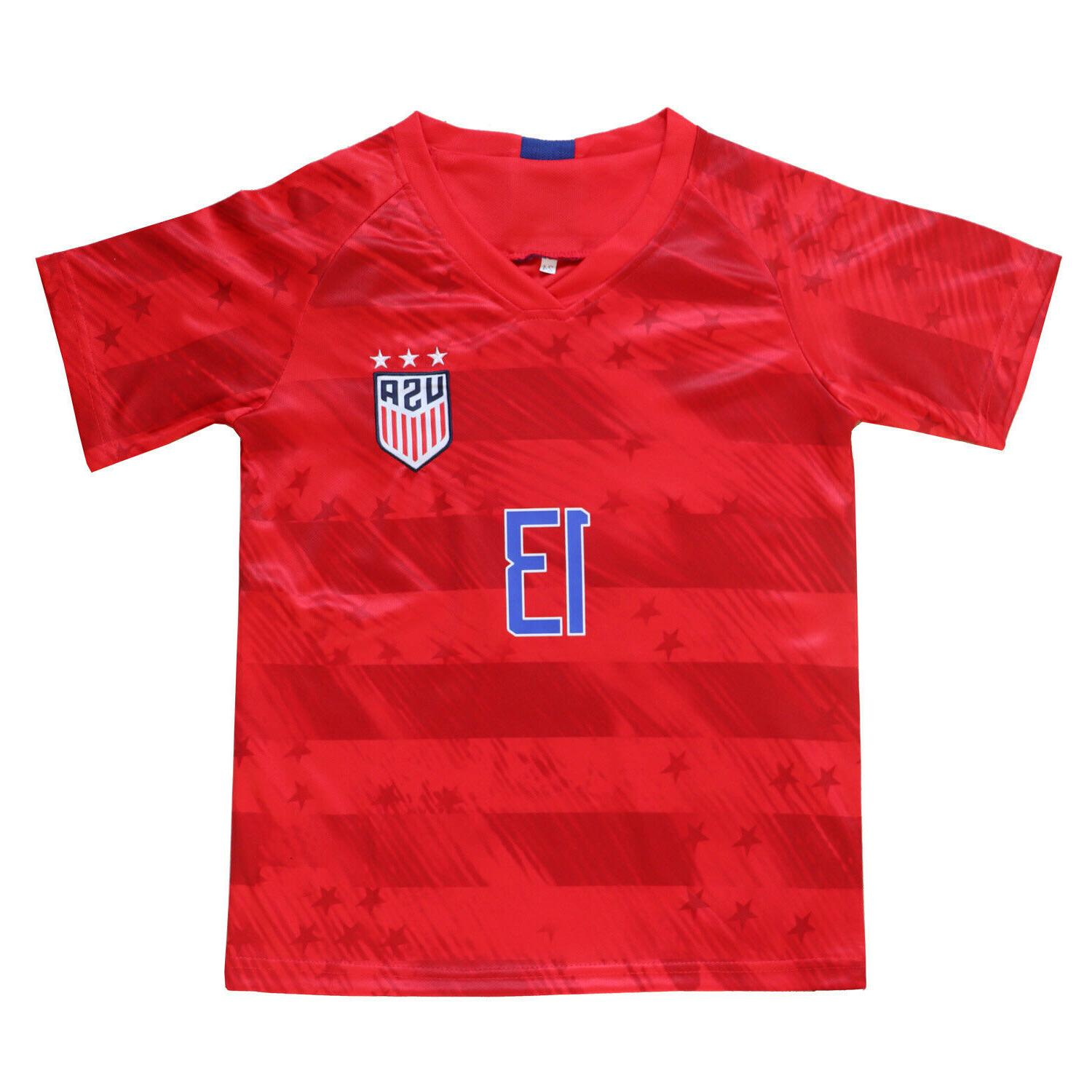 USA #13 Kids Home Soccer Jersey & Youth