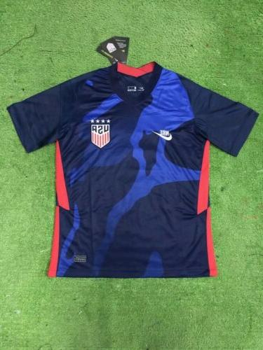 usa away navy blue soccer jersey 20