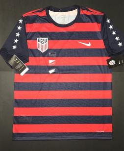 Large Mens NIKE USA Vapor Match GOLD CUP Soccer JERSEY BLUE