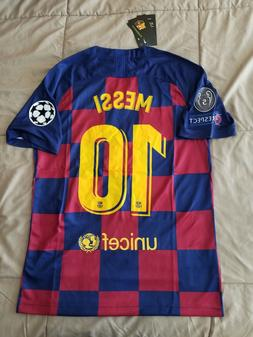 Lionel Messi #10 FC Barcelona 2019/20 Home Jersey Champions