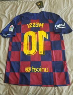 Lionel Messi #10 FC Barcelona 2019/20 Home Checkered Jersey