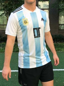 Lionel Messi Home Jersey 2018 World Cup Argentina  10 Soccer 9d00e2658