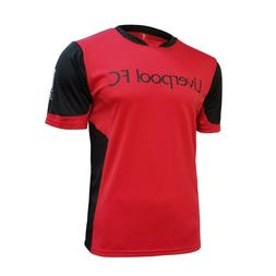 liverpool fc new men's soccer team home red black jersey 201