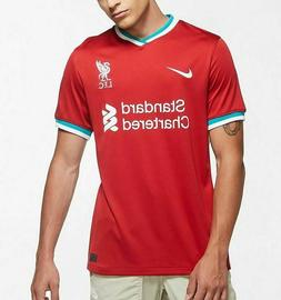 Nike Liverpool Red Home 2020-2021 Stadium Soccer Jersey Foot