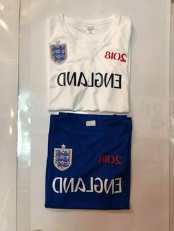 LOT OF 2 ENGLAND REPLICA WORLD CUP 2018 JERSEYS ROYAL WHITE