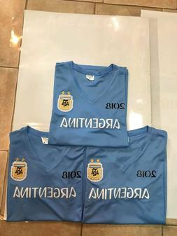 LOT OF 3 ARGENTINA HOME REPLICA WORLD CUP 2018 JERSEYS SKY B