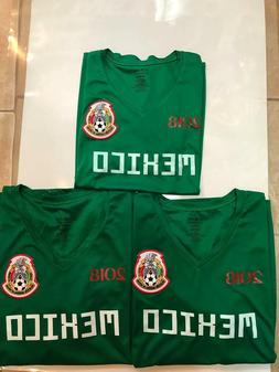 LOT OF 3 MEXICO HOME REPLICA WORLD CUP 2018 JERSEYS GREEN WO