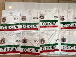 LOT OF 8 MEXICO AWAY REPLICA WORLD CUP 2018 JERSEYS WHITE WO
