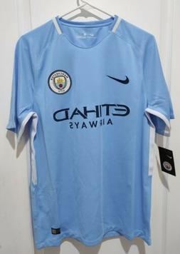 Nike Manchester City FC Soccer Home Jersey 2017 2018 Mens Si