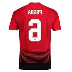 Manchester United Home #6 Pogba Mens Soccer Jerseys 18-19 Se