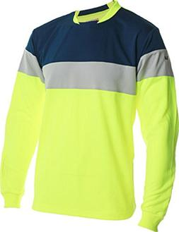 Vizari Mateo Goalkeeper Jersey, Neon Yellow with Navy/Silver