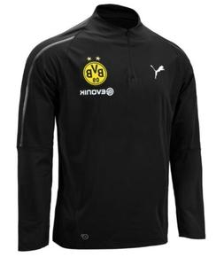 Puma Men Dortmund 1/4 Training L/S Shirts Black BVB Soccer T