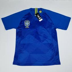 Men's 2018 Brazil National Football Team Blue Replica Soccer
