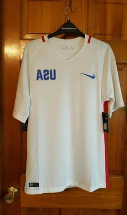 MEN'S NIKE DRI-FIT 2016 U.S. STADIUM HOME SOCCER JERSEY WHIT