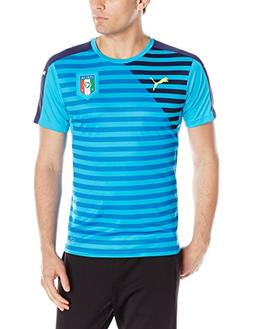 PUMA Men's FIGC Italia Stadium Jersey, Atomic Blue/Peacoat,