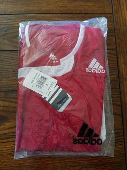 Adidas Men's soccer team jersey Shirt SMALL red white CLIMAC