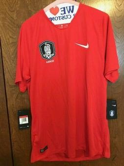 Nike Men's South Korea Soccer/Football Jersey Red Size L NWT