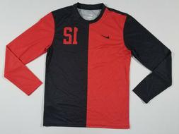 NIKE Mens DQT #12 Long Sleeve Soccer Jersey | Red/Black | Me