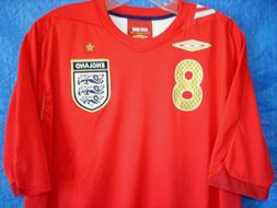MENS LARGE UMBRO 2006 ENGLAND LAMPARD #8 OLYMPIC WORLD CUP S
