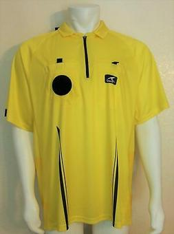 Mens Score Play On Pro 2045 Soccer Referee Jersey  Yellow D4