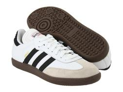 Mens Adidas Samba Classic White Athletic Indoor Soccer Shoes