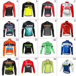 Mens Team Cycling Jersey Cycling Jersey Long Sleeve Cycling