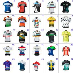 Mens Team Cycling Jersey Short Sleeve Bicycle Jersey Cycling