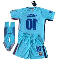 BiangYAr Messi #10 FC Barcelona 2017-2018 Youths Away Soccer