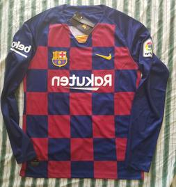 Messi / Griezmann 2019/20 FC Barcelona Home Long Sleeve Jers