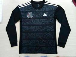 Mexico Home Black Soccer Jersey 2019 Gold Cup Sz M Long Slee
