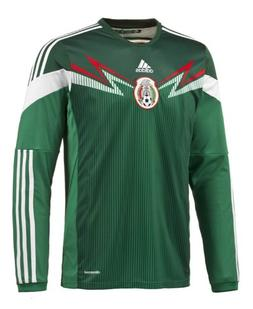 Adidas Mexico Home Jersey World Cup 2014 Long Sleeve