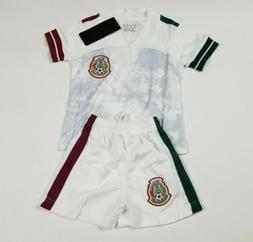 Mexico Kid's Soccer Jersey Futbol Jersey And Shorts White Co