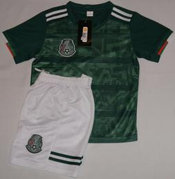 Mexico Kids Soccer Green Jersey & Short Copa Oro Nino Player
