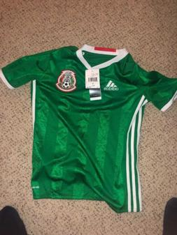 Mexico National Home Soccer Jersey Adidas ClimaCool -Green-